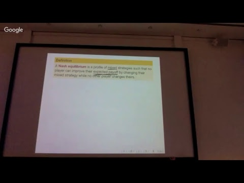 DM Lecture 21: Zero-sum games, saddle points, mixed strategies