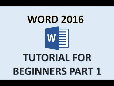 Word 2016 - Tutorial For Beginners - How To Use Microsoft Office 365 - MS Document MOS Exam Playlist