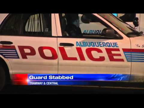 Woman flees grocery store after stabbing security guard