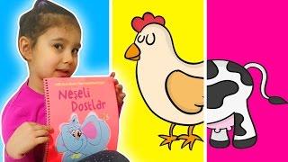 Neşeli Dostlar Hayvanları Kuyruk Eşleştirme Oyunu | Çocuk Kitabı | Asya'nın Dünyası Eğlenceli Video