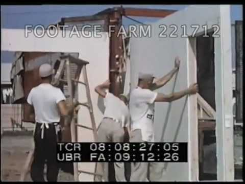 1950s Home Building 1 2 221712 01 Footage Farm Youtube