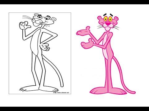 Como Dibujar y Pintar a La Pantera Rosa - YouTube