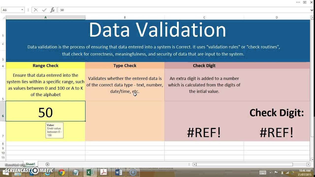 Data Validation Techniques