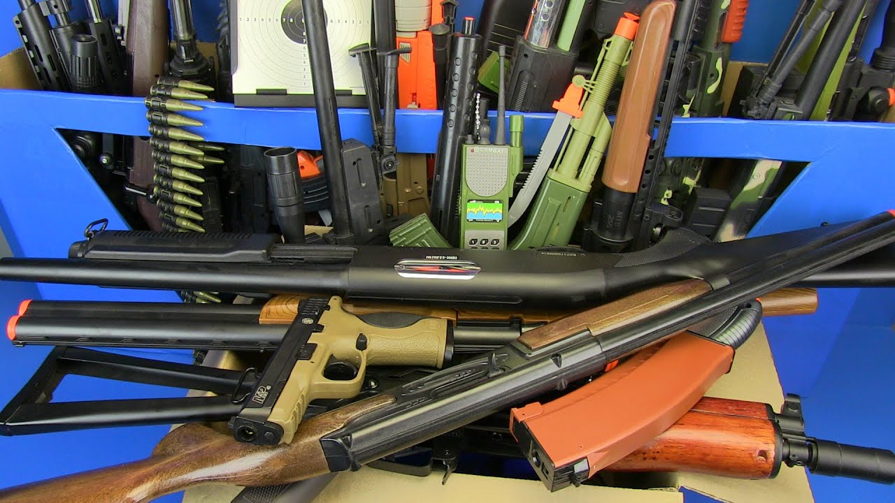 Box of Toys ! AIRSOFT Gun Toys Military Guns Toys & Equipment