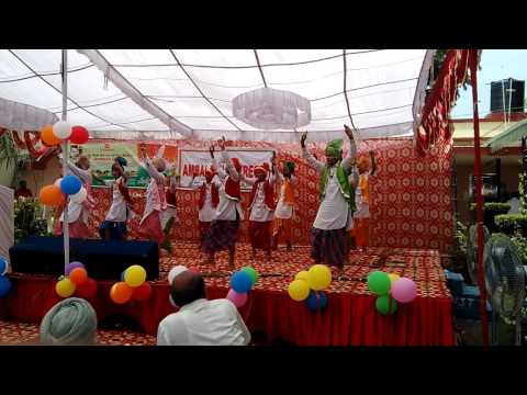 ambala public school students performing Bhangra at Ambala club