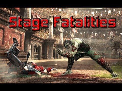 Mortal Kombat 9  Fatalities De Escenario ( Stage Fatalities )