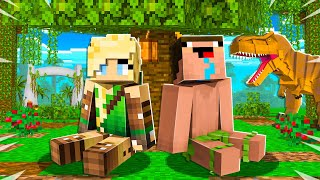 I Got TRAPPED on a Dinosaur Island... - Minecraft