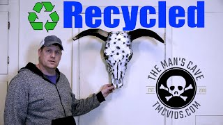 How To Make A Bull Skull From Recycled Metal Faux Taxidermy
