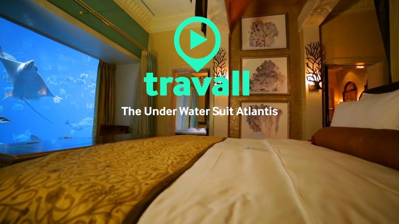 The underwater suite at Atlantis Hotel in Dubai