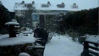 Sneeuwjacht in Bennebroek