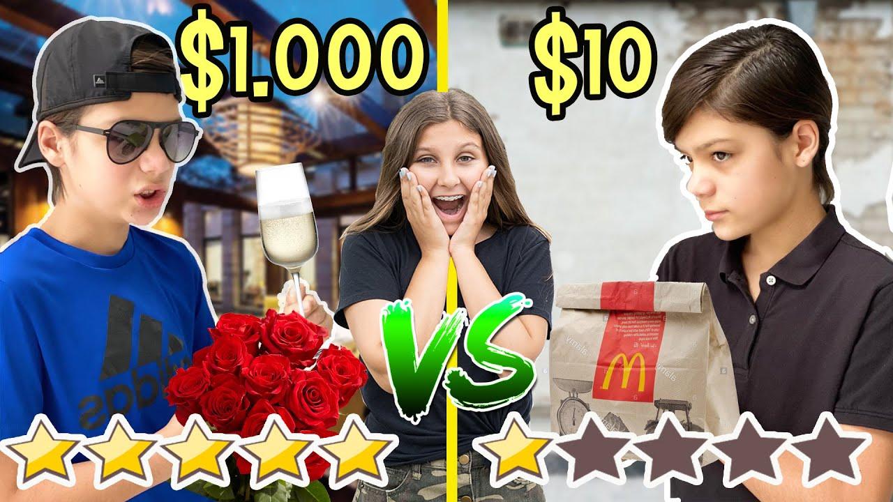 Cita POBRE $10 vs cita MILLONARIA $1000 - Mimi Land reto extremo con LOS GEMELOS