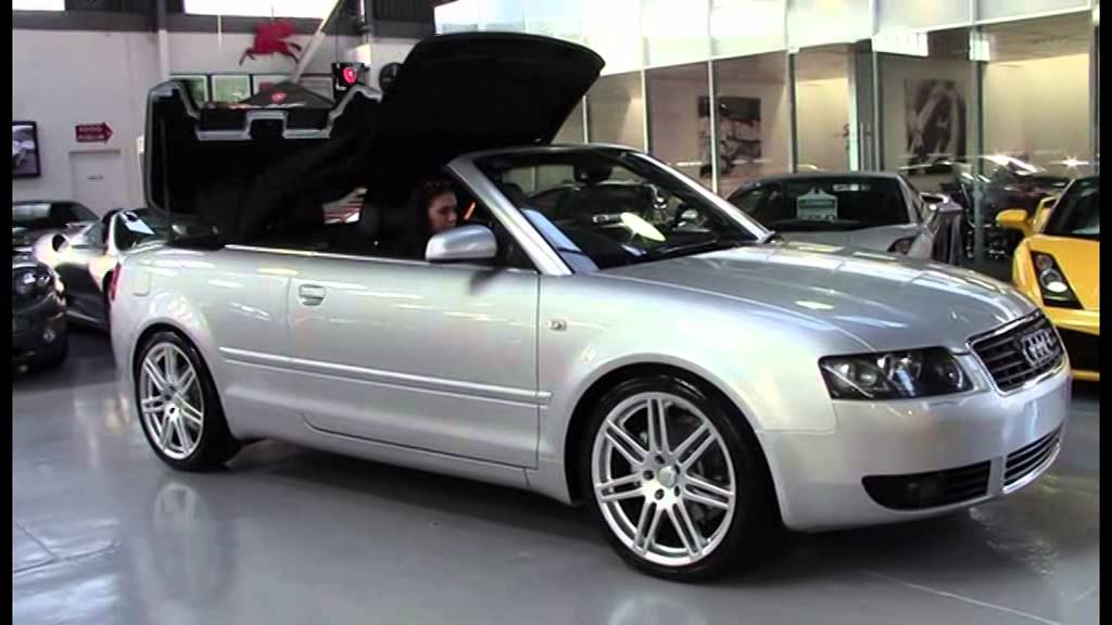 audi a4 b6 cabriolet silver 2005 sn1009482 youtube. Black Bedroom Furniture Sets. Home Design Ideas