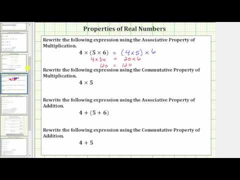 Rewriting Expressions Using the Commutative and Associative