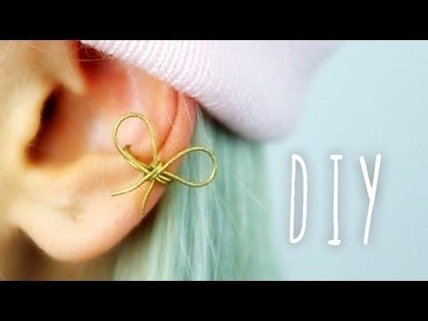 diy ohrschleife aus draht ear cuff schmuck selber machen bonnytrash selber machen. Black Bedroom Furniture Sets. Home Design Ideas