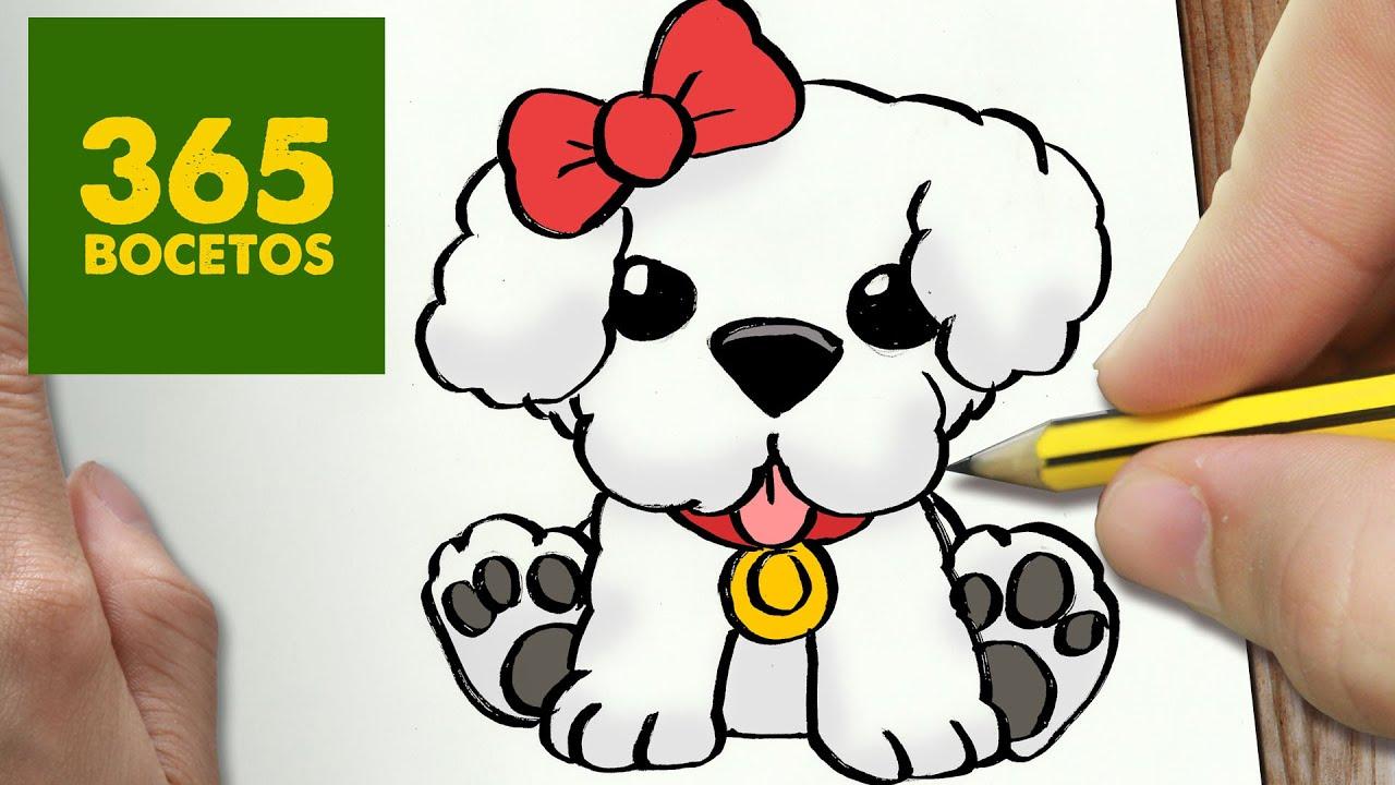Como Dibujar Un Perrito Dulce Paso A Paso Os Enseñamos A Dibujar Un Perro Fácil Para Niños