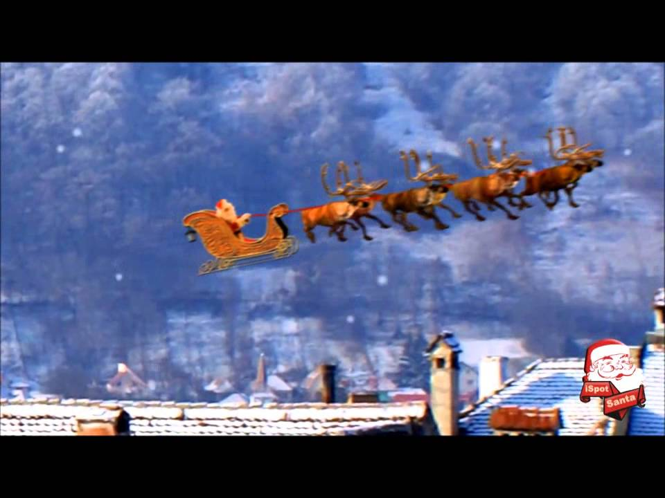 santa flying in his sleigh youtube