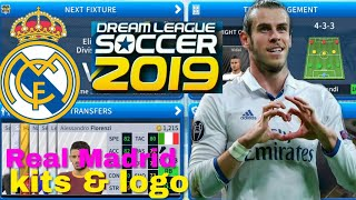 How To Create Real Madrid 2019 Team Kits & Logo | Dream League Soccer 2019