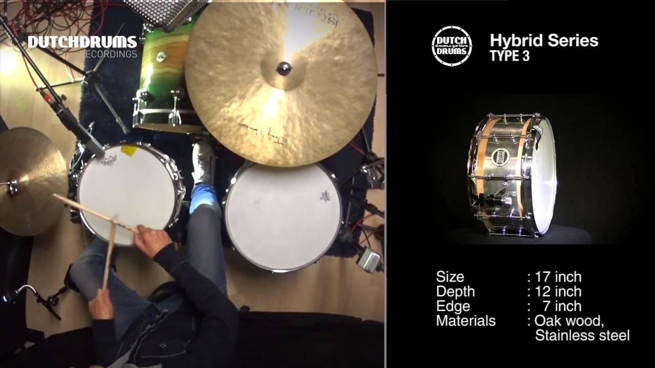 ton dijkman dutch drums recordings snare drum hybrid series type 3 youtube. Black Bedroom Furniture Sets. Home Design Ideas
