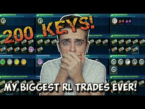 MY BIGGEST ROCKET LEAGUE TRADING VIDEO EVER! | Selling LOTS Of My Inventory for OVER 200 KEYS!