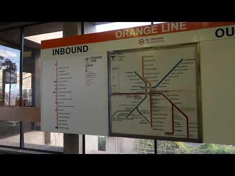 1970s MBTA Map at Wellington