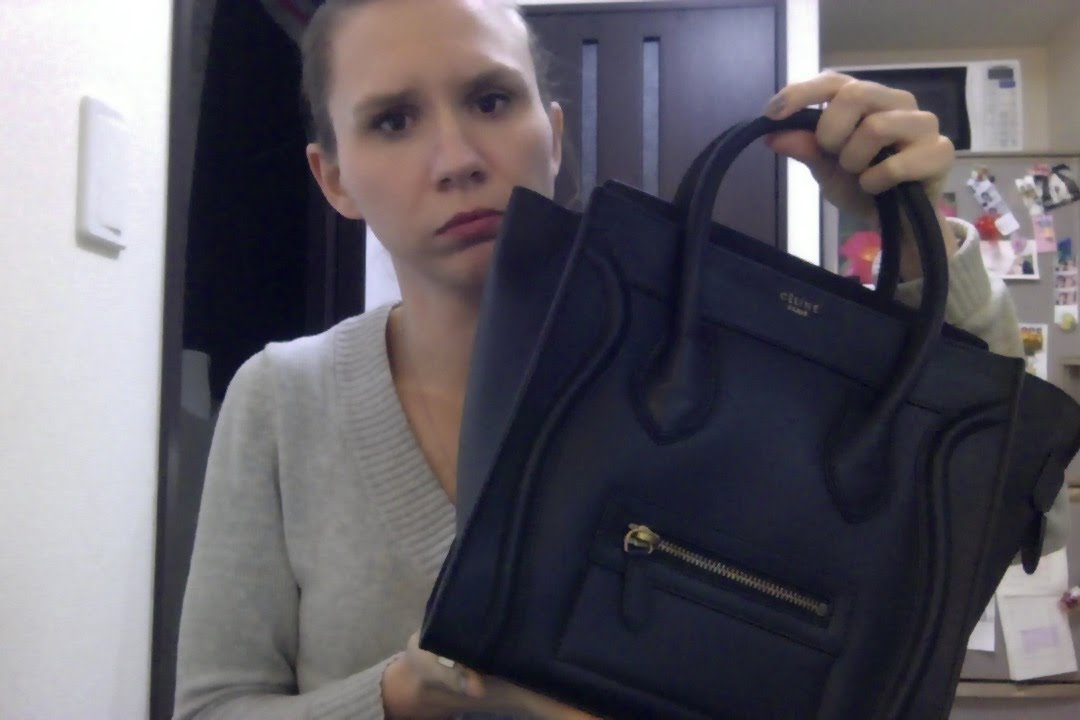 celine trapeze bag for sale - I bought a fake Celine luggage tote thinking it was real - YouTube