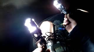 Мини линзы H4 LED vs Мини линзы H4 КСЕНОН Video