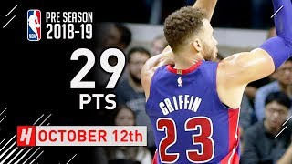 Blake Griffin Full Highlights Pistons vs Cavaliers 2018.10.12 - 29 Points in 3 Qtrs!