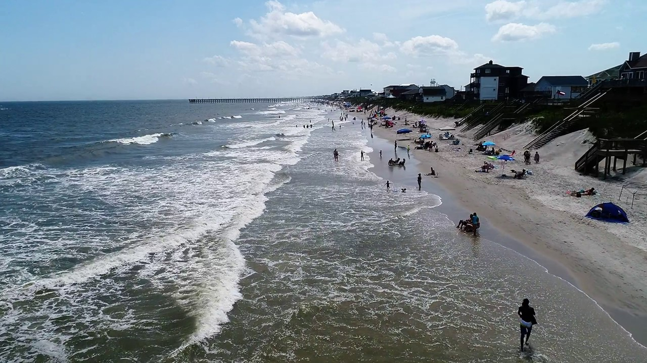 Aerial View Of High Tide July 2nd Topsail Island Nc