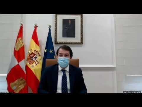 Igea demuestra con un extracto del vídeo de la reunión con los alcaldes que Mañueco  habló del toque de queda