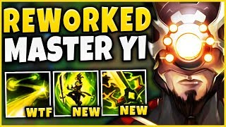 Download NEW MASTER YI REWORK IS ACTUALLY BEYOND BROKEN!  (NEW Q=FIORA ULT) - League of Legends Mp3 and Videos