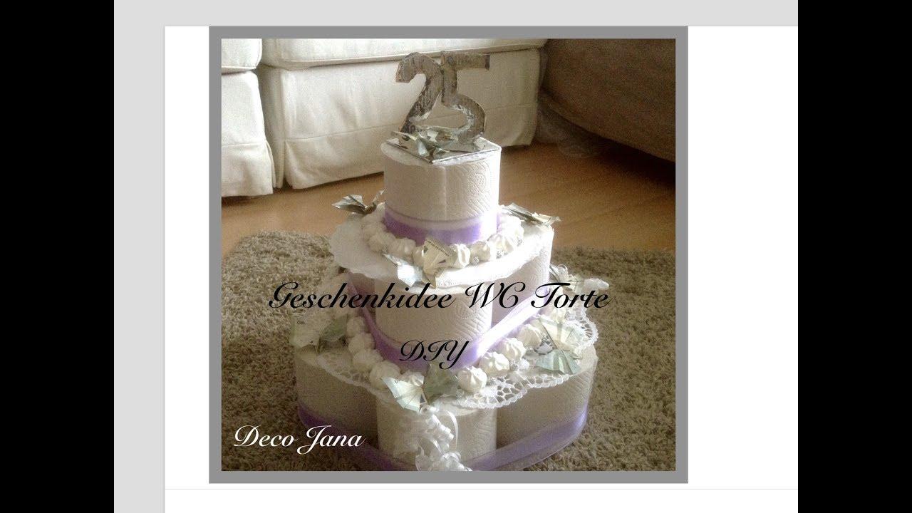 Diy Wc Papier Torte Hochzeitstorte Geldgeschenk Dekotorte Selbst
