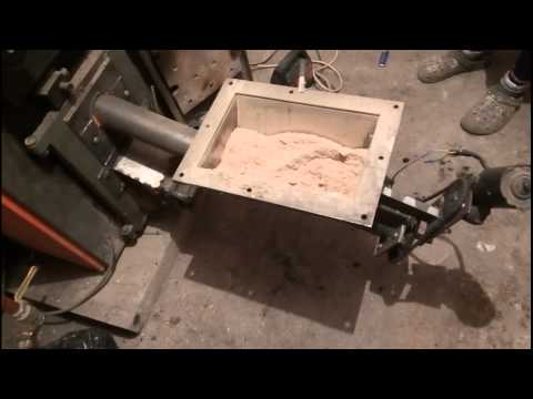 DIY sawdust/pellet burner on central heating stove first burn test sawdust/pellet
