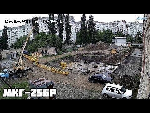 Монтаж гусеничного крана МКГ-25БР с БСО