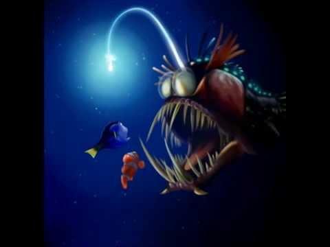 Finding nemo angler fish youtube for Nemo light fish