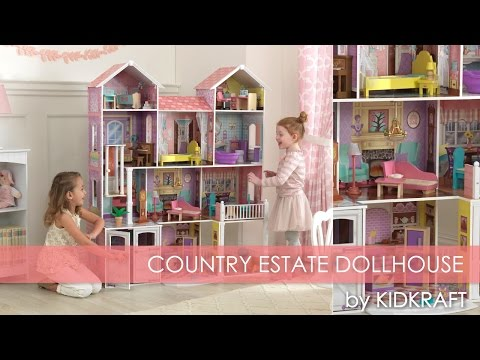 children's-pink-country-estate-dollhouse-for-barbie---toy-review
