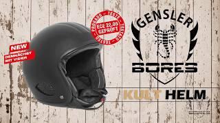 Bores Gensler Kult 3 Matt-Schwarz Jethelm ECE 22-05