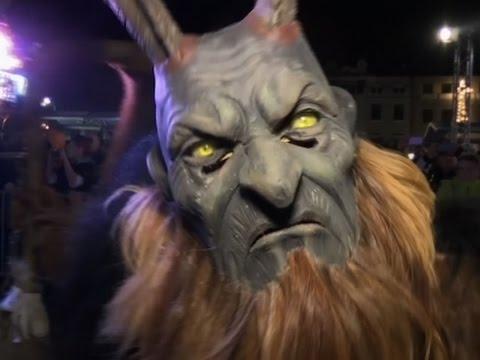 Raw: Evil 'Krampus' Frightens Austrian Town
