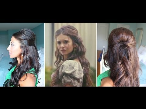 how to style curly hair for dobrev inspired hairstyle 6110