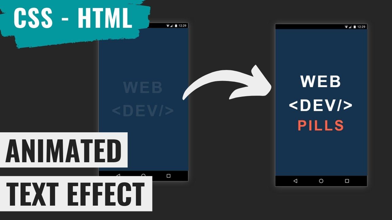 Awesome Animated Text Effect Using HTML and CSS