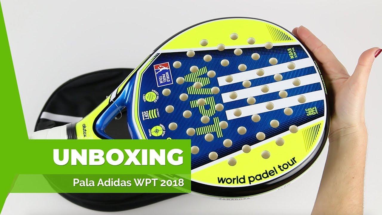 bicapa triángulo Roble  Pala Adidas World Padel Tour - YouTube