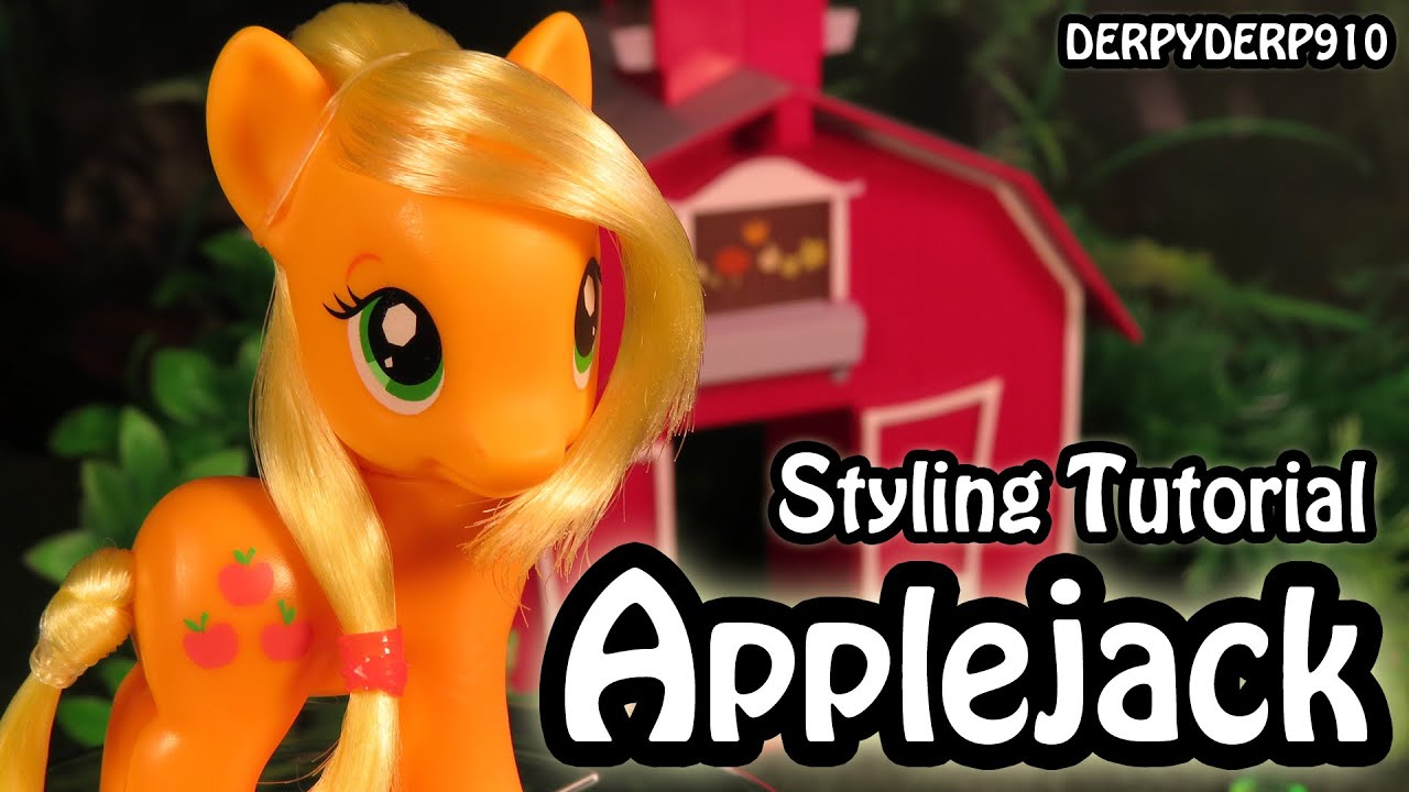 my pony hair styling my pony applejack hair styling tutorial mlp 1080