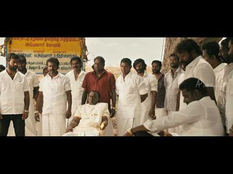 Komban Tamil Movie | Fight Scene | Title Credits | IM Viayan Kills The Rowdi