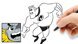 How to draw Mr. Incredible