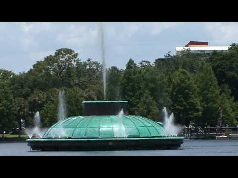Orlando Lake Eola Fountain Turns Back On