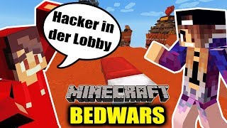 Minecraft: Hacker in der Lobby bei BED WARS & wir gewinnen! Die ersten Wins für NINA + KAAN jemals!