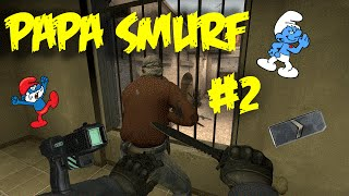Papa Smurf #2 w/ friends (CS:GO) | GLOBAL VS SILVER , NINJAS , MM TROLLING , KNIFING & MORE