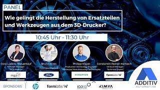 """ADDITIV Automotive: """"Die Herstellung von Ersatzteilen und Werkzeugen mit dem 3D-Drucker."""""""