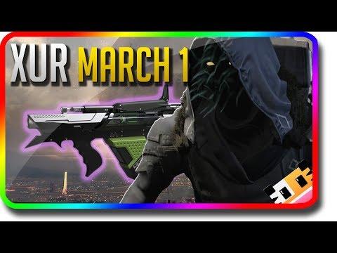 "Destiny 2 - Xur Location & Exotic Armor Perk Rolls ""The Colony"" 3/1/2019 (Xur March 1) thumbnail"