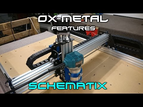 OX-Metal CNC Router Mill Features & Cutting Demo