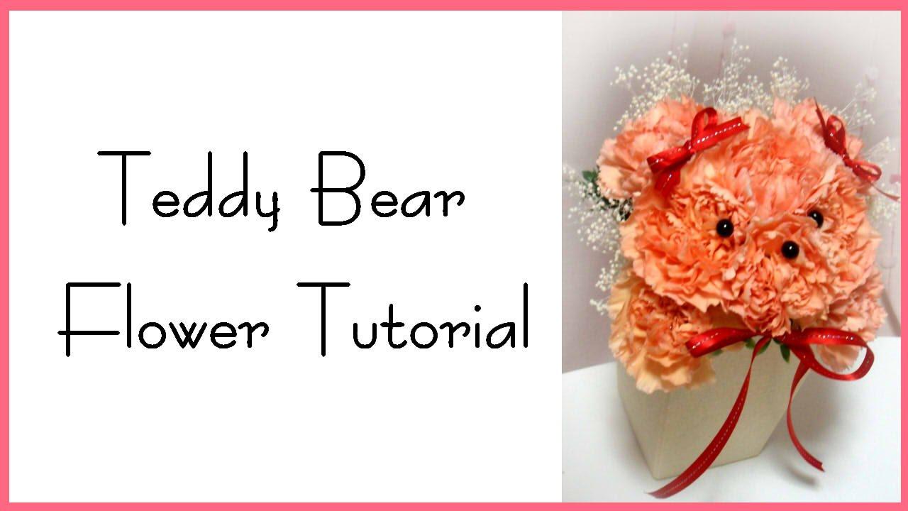Teddy Bear Flower Tutorial